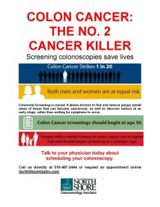 Colorectal Cancer Myth Vs Fact North Shore Gastroenterology Associates